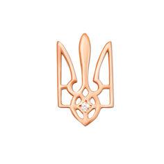 Кулон из красного золота с фианитом 000004007 000004007 от Zlato