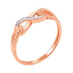 Кольцо из красного золота с фианитами 000006115 000006115 15.5 размера от Zlato