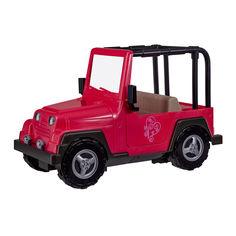 Транспорт для кукол Our Generation Розовый джип с черной рамкой (BD37277Z) от Будинок іграшок