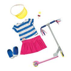 Набор Our Generation Deluxe Одежда аксессуары и самокат (BD30200Z) от Будинок іграшок