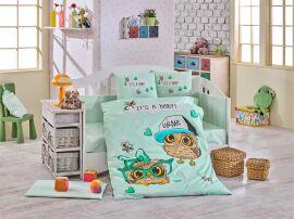 Акция на Постельное белье в кроватку Hobby Cool Baby мятное Детский комплект от Podushka