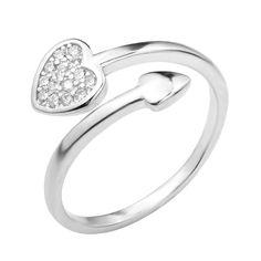 Серебряное кольцо с фианитами 000124949 000124949 б/р размера от Zlato