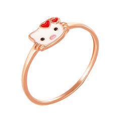 Детское золотое кольцо Китти с эмалью 000126629 16 размера от Zlato