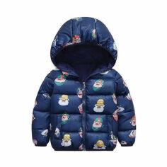 Куртка демисезонная для мальчика Tianzong А1010 т.синяя 130 от Podushka