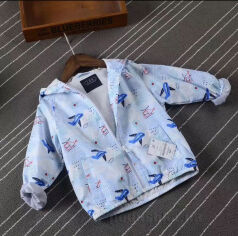 Куртка ветровка для мальчика JDK 660-739 голубая 140 от Podushka
