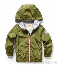 Куртка ветровка детская Baryeka 790 зеленая 140 от Podushka