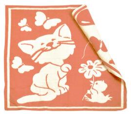 Одеяло детское WOT Кошечка персик 100х118 см от Podushka