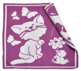 Одеяло детское WOT Кошечка фуксия 100х118 см от Podushka