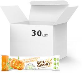"""Упаковка батончиков San Grano с органическими цельнозерновыми овсяными хлопьями """"Реальная тыква"""" 25 г х 30 шт (4820182202117) от Rozetka"""