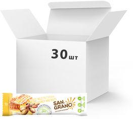 """Упаковка батончиков San Grano с органическими цельнозерновыми овсяными хлопьями """"Мед и орехи"""" 25 г х 30 шт (4820182202100) от Rozetka"""