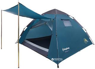 Палатка KingCamp Monza 3 (KT3094 Сyan) от Rozetka