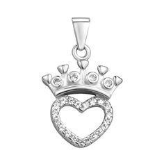Серебряный кулон с короной и фианитами 000106981 000106981 от Zlato