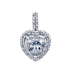 Серебряный кулон Кристальное сердце с фианитами 000127230 от Zlato