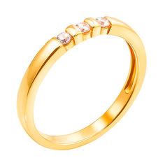 Акция на Золотое кольцо в желтом цвете Дейзи с фианитами 000130284 16.5 размера от Zlato