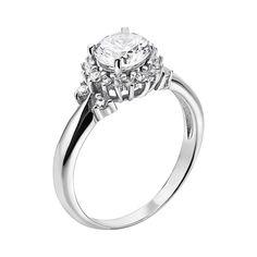 Серебряное кольцо с фианитами 000133258 000133258 15.5 размера от Zlato