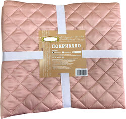 Покрывало Zastelli шелковое Розовое 160x210 см (2500000966606) от Rozetka