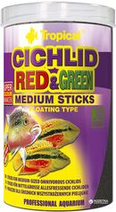 Корм Tropical Cichlid Red&Green Medium Sticks для аквариумных рыб в палочках 1 л (5900469637265) от Rozetka