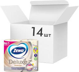 Упаковка туалетной бумаги Zewa Deluxe трехслойной Арома Спа 14 шт по 4 рулона (7322540568813) от Rozetka