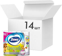 Упаковка туалетной бумаги Zewa Kids трехслойной 14 шт по 4 рулона (7322540606225) от Rozetka