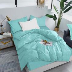 Акция на Комплект постельного белья Zastelli Поплин 20 Белый горох на мятном евро (2500000966835) от Rozetka