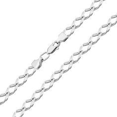 Серебряная цепочка в плетении двойной ромб 000125274 000125274 50 размера от Zlato
