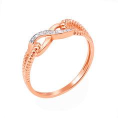 Кольцо из красного золота с фианитами 000006115 000006115 19 размера от Zlato