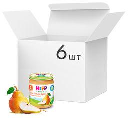 """Акция на Упаковка фруктового пюре HiPP органического Груши """"Уильям Крист """" с 4 месяцев 125 г х 6 шт (9062300431664) от Rozetka"""