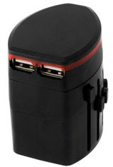 Акция на Сетевой дорожный универсальный адаптер ExtraDigital CUA1532 Black от Rozetka