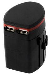 Сетевой дорожный универсальный адаптер ExtraDigital CUA1532 Black от Rozetka