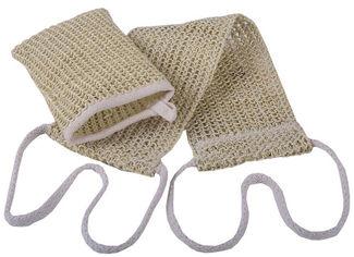 Лента массажная для спины и рукавичка Balmy Naturel из сезаля (8691400010601) от Rozetka