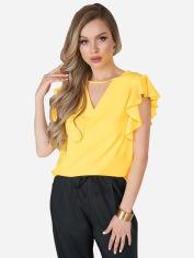Блузка ISSA PLUS 11701 XL Желтая (issa2000305440578) от Rozetka