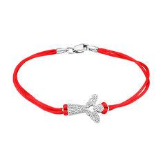 Браслет из серебра и красной шелковой нити 000124794 000124794 20 размера от Zlato