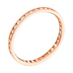 Акция на Золотое обручальное кольцо с фианитами Моя нежность 000007392 20.5 размера от Zlato