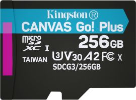 Акция на Kingston MicroSDXC 256GB Canvas Go! Plus Class 10 UHS-I U3 V30 A2 (SDCG3/256GBSP) от Rozetka