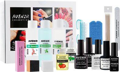Стартовый набор для мастера маникюра Avenir Cosmetics 3 Красная классика (4820440813581) от Rozetka