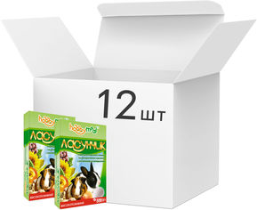Упаковка сухого корма Hobby Meal Ласунчик морские свинки и декоративные кролики 600 г х 12 шт 5160 (4820097800439) от Rozetka