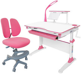 Комплект Evo-kids Evo-30 PN + Y-408 KP стол + лампа + кресло Mio-2 Розовый от Rozetka