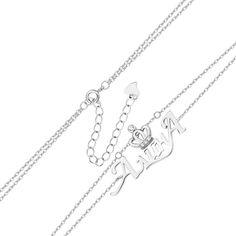 Многослойный серебряный браслет с подвеской-именем Алина и цирконием 000131961 000131961 16.5 размера от Zlato