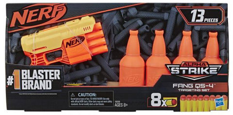 Бластер Hasbro Nerf с мишенями Nerf Alpha Strike Fang QS4 (E8308) (5010993634781) от Rozetka