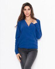 Блузы ISSA PLUS 11122  XL синий от Issaplus
