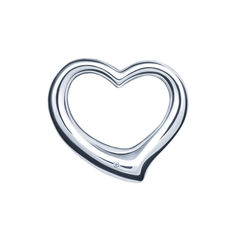 Серебряный кулон-сердце Лирика с бриллиантом 000046084 от Zlato