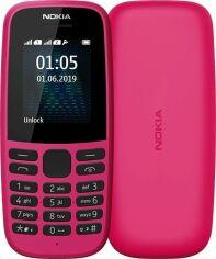 Мобильный телефон Nokia 105 2019 (16KIGP01A13) Pink от Територія твоєї техніки