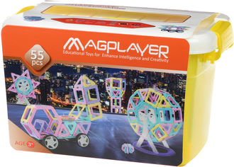 Акция на Конструктор магнитный Magplayer 55 элементов (MPT2-55) от Rozetka