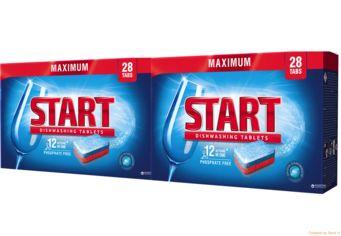 Таблетки для посудомоечной машины Start Maximum 28 шт + 28 шт (4820207100176) от Rozetka