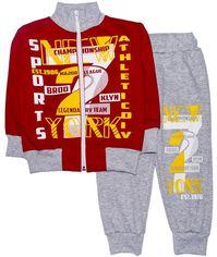 Спортивный костюм Малыш Style Sports КС-27 60 р 110-116 см Серый с красным (ROZ6400006418) от Rozetka
