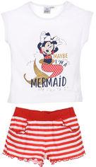 Костюм (футболка + шорты) Disney ET1110 128 см Красный (3609084238032) от Rozetka