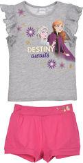 Костюм (футболка + шорты) Disney ET1241 128 см Серый (3609084249106) от Rozetka