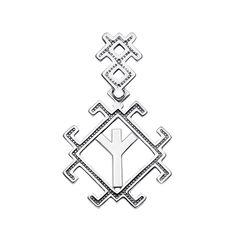 Серебряный кулон Руна Мир (Альгиз) 000133727 000133727 от Zlato