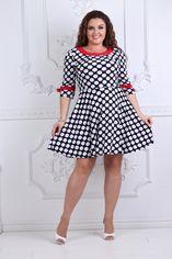 Платье ALDEM 1201 46 Черное с белым горохом (2000000422763_ELF) от Rozetka