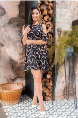 """Платье Remise Store V328 52 Черное принт """"цветы"""" (2000000444611_ELF) от Rozetka"""